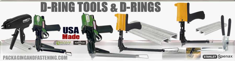 Spenax air D hog ring tools or manual D ring pliers for Stanley Spenax D rings for Spenax hog ring guns.